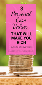 3 Personal Core Values Richest People